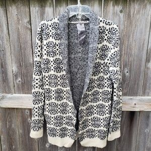 Moon Collection Floral Cardigan Sz M